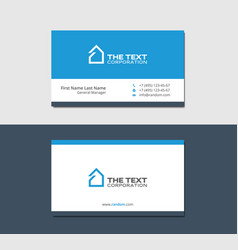 business cards template with smart house vector image