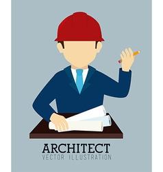 Business design over blue background vector