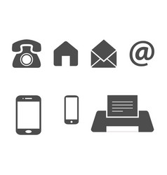 bussines card icons vector image