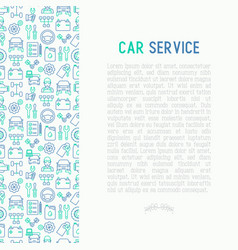 Car service concept with thin line icons vector