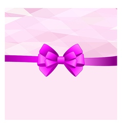 Card with purple bow has space for text vector