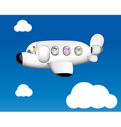 Cartoon plane flying vector
