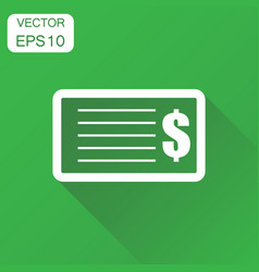 Check money icon business concept banking vector