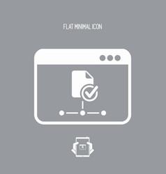Check network window - flat minimal icon vector