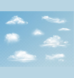 clouds realistic isolated set vector image
