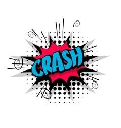 Comic text pop crash art bubble vector image