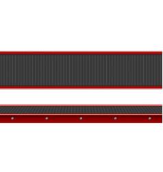 Conveyor belt top view empty production line vector