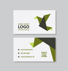 Creative and clean business card template flat vector