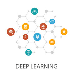 Deep learning presentation template cover layout vector