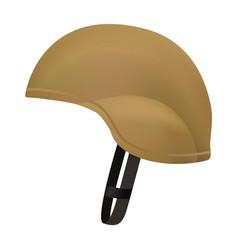 Desert color army helmet mockup realistic style vector