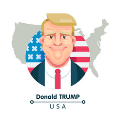 donald trump vector image