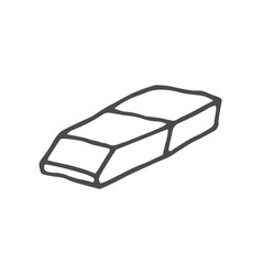 Doodle eraser isolated on vector