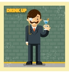 Drink up concept vector image