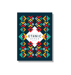 Ethnic style original colorful ethno tribal vector