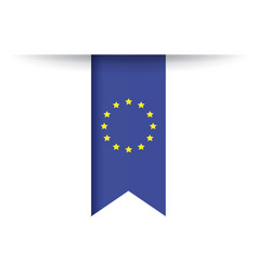 european flag vector image