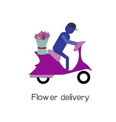 Flower delivery delivery concept vector