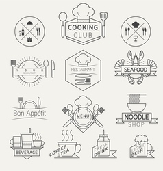 Food Beverage Cooking Labels and Badges vector