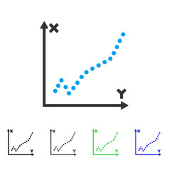 Function plot flat icon vector