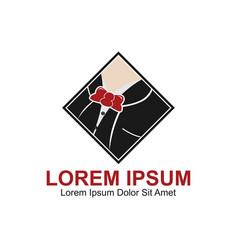 Gentleman fashion logo vector