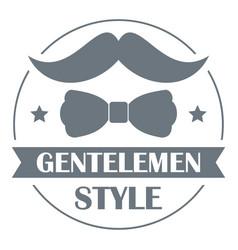 Gentlemen style logo simple style vector