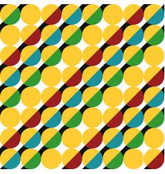 geometric pattern circles vector image
