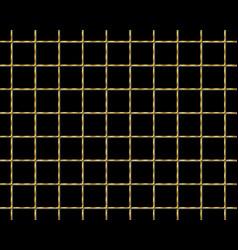 Golden checkered seamless pattern vector