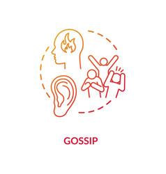 Gossip red concept icon vector