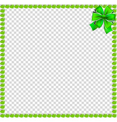 Green apples square frame with festive bow vector