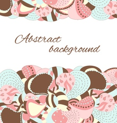 Hand draw abstract petal and flower background vector image