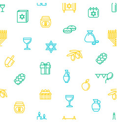 hanukkah seamless pattern background vector image