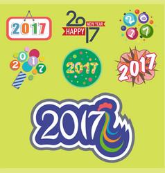 Happy new year 2017 text design creative vector