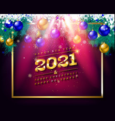 happy new year to 2021 vector image