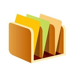Icon bookshelf vector