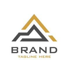 initial logo design a vector image