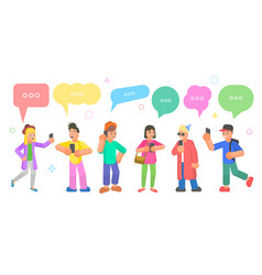 isometric flat concept chatting people vector image