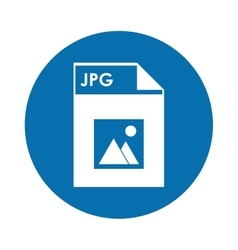 Jpg file icon vector image