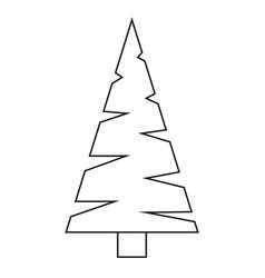 line art black and white triangular fir tree vector image