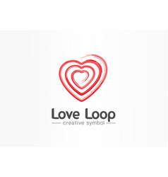 love loop creative symbol concept valentine day vector image