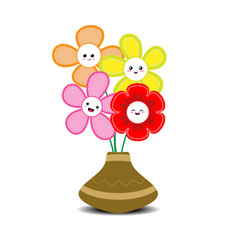 Lovely flowers in a vase vector