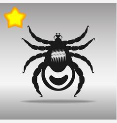 mites black icon button logo symbol vector image