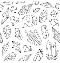 monochrome seamless pattern with beautiful faceted vector image