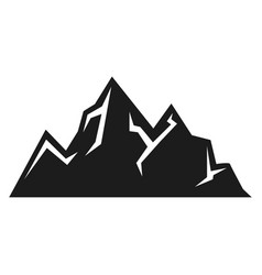mountain icon expedition and sport black vector image