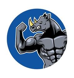 Muscular Rhino2 vector image