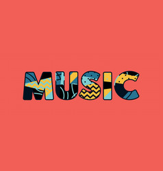Music concept word art vector