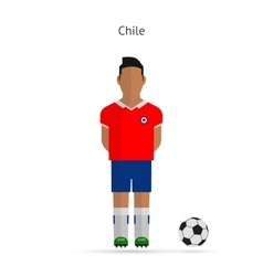 National football player Chile soccer team uniform vector
