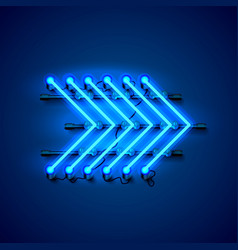 neon sign arrow right signboard night sign board vector image