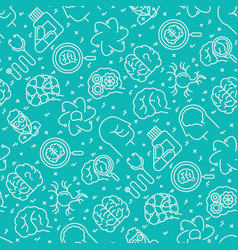 neurology seamless pattern with thin line icons vector image