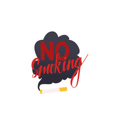 no smoking restriction symbol cigarette vector image
