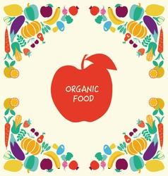 Organic Healthy Food icons set Eco Food vector image vector image