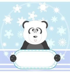 panda with sign vector image
